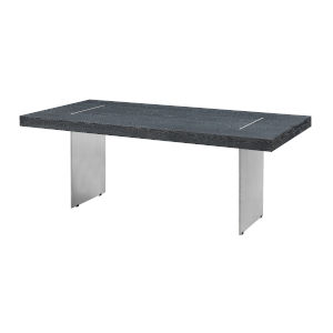Charcoal and Stainless Steel 78-Inch Dining Table
