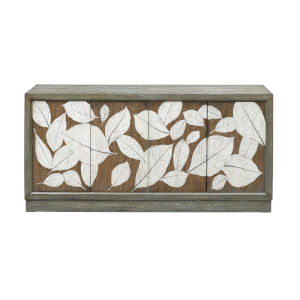 Foliage Brown and Teal Wash 68-Inch Media Credenza