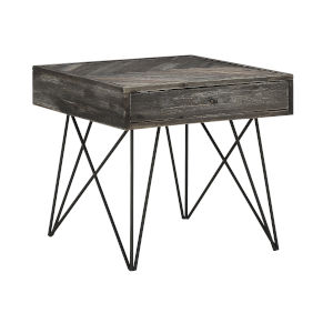 Aspen Court Grey 26-Inch End Table