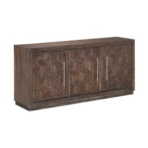 Tumbler Dark Brown 63-Inch Media Credenza
