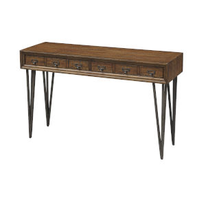 Oxford Distressed Brown 48-Inch Console Table