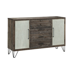 Raider Vintage Grey and Brown 62-Inch Media Credenza