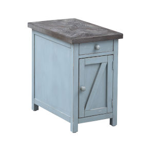 Bar Harbor Blue Chairside Cabinet