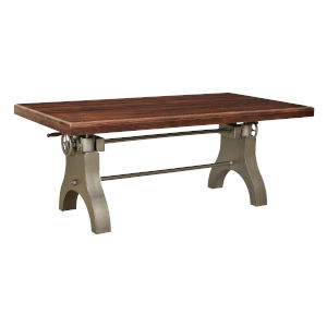 Honey Brown and Antique Silver 80-Inch Dining Table