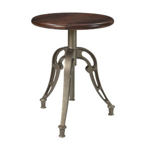 Honey Brown and Antique Silver 26-Inch Barstool