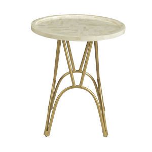 Gold 20-Inch Accent Table