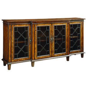 Brown 70-Inch Four-Door Tv Stand Cabinet