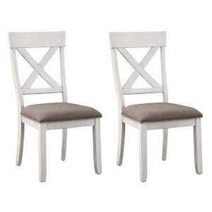 Bar Harbor II Harbor Cream Dining Chair, Set of Two