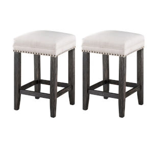 Dayton Black Brown Rub Counter Stool, Set of Two