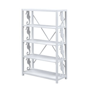 Wonders of the Sea Under the Sea White Bookcase