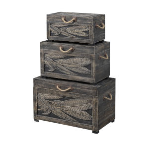 Wonders of the Sea Tropics Tobacco Wash Nesting Trunk, Set of Three