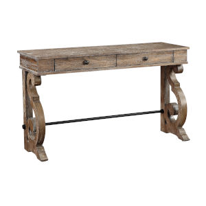 Sherwood Aged Brown Two-Drawer Console Table