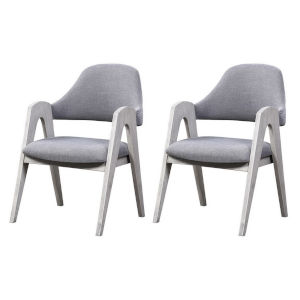 Aspen Court II Court White Rub 36-Inch Dining Chair, Set of Two
