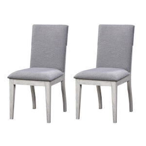 Aspen Court II Court Herringbone White Rub Dining Chair, Set of Two