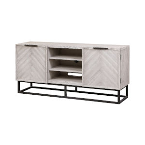 Aspen Court II Court Herringbone White Rub Console Table