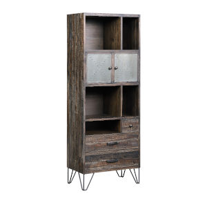 Aspen Court Vintage Raider Vintage Grey Brown Bookcase