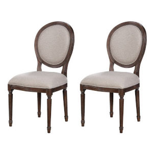 Marquette Tumbler Brown Dining Chair, Set of Two