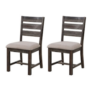 Aspen Court  Brown Rub Dining Chair, Set of Two