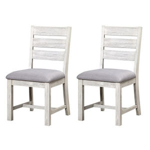 Aspen Court II Court White Rub Dining Chair, Set of Two