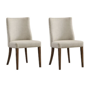 Medium Brown Dining Chair, Set of Two