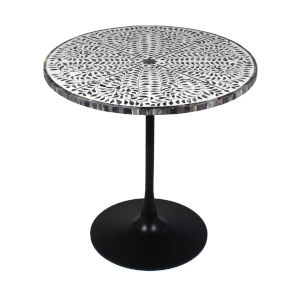 Kaylees Garden Grey White Accent Table