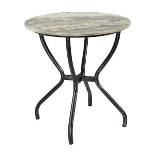 Madeline Antique Silver Rub Accent Table