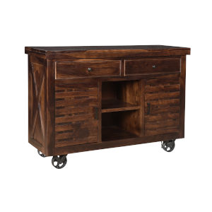 Braxton Honey Brown Black Sideboard