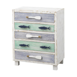 Something Fishy Multi color Cabinet