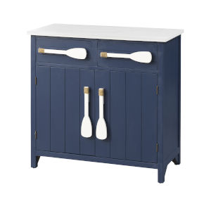 Rowing Along Blue and White Cabinet