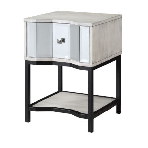 Gabby White Black End Table