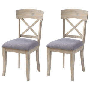 Barrister Distressed Dining Chair, Set of Two