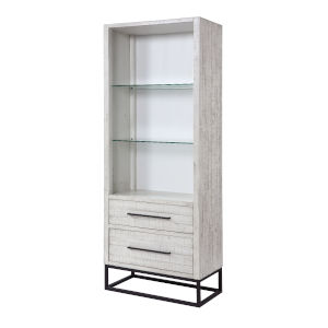 Canyon Ridge  White Rub Bookcase