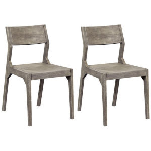 Yukon Sandblast Grey Round Seat Dining Chair, Set of Two