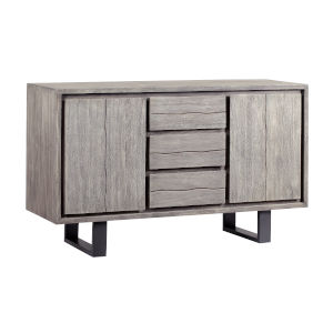 Yukon Sandblast Grey Gunmetal Finish Sideboard