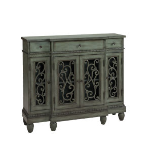 Green Three-Drawer Four-Door Buffet