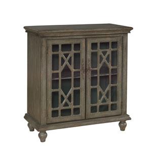 Gray Two-Door Cabinet