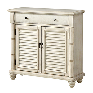 Off White One Drawer Two Door Cabinet