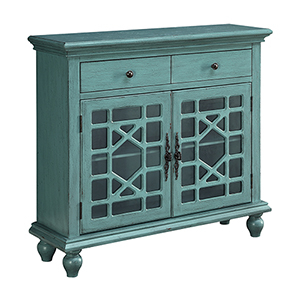 Bayberry Blue Two Drawer Two Door Cabinet