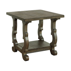 Orchard Park End Table in Brown
