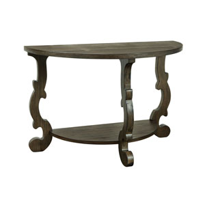 Orchard Park Demilune Console Table in Brown