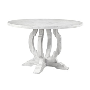Orchard Park Round Dining Table in White