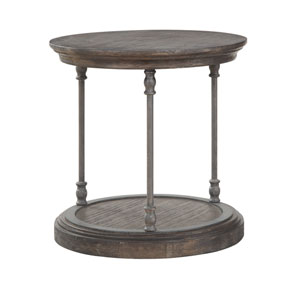 Corbin Round End Table in Brown