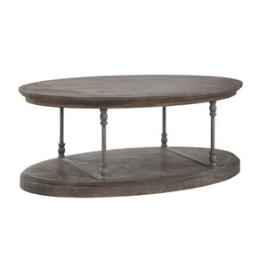 Corbin Oval Cocktail Table in Brown