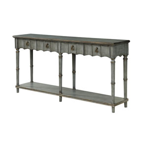 Two Drawer Console Table in Gray
