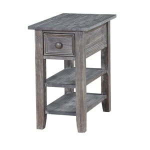One Drawer Chairside in Gray