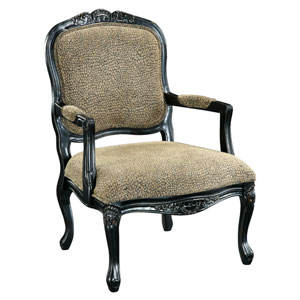 Reptile Print Accent Chair