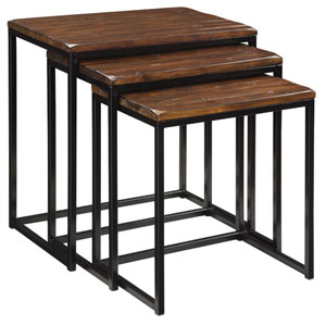 Blaisdell Rustic Brown Three Piece Nesting Tables