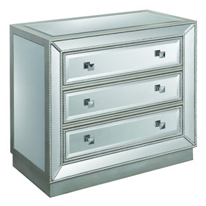 Mirrored 3-Drawer Cabinet