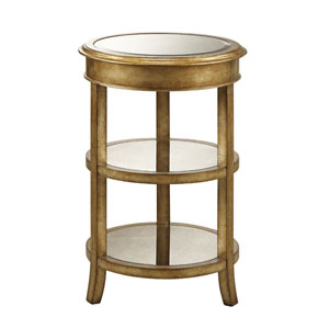 Coast to Coast Accents Gold Accent Table