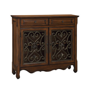 Rustic Brown Two Door Cabinet